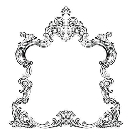 Luxe Baroque Rococo frame van de spiegel te stellen. Vector Franse luxe rijk gesneden ornamenten en Wall Frames. Victoriaanse Royal stijlframe