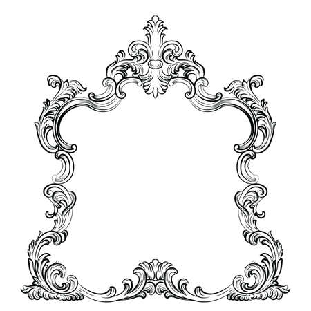 baroque room: Luxury Baroque Rococo Mirror frame set. Vector French Luxury rich carved ornaments and Wall Frames. Victorian Royal Style frame