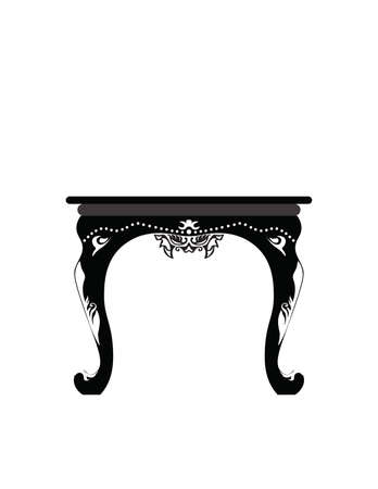 coffee table: Coffee table with royal classic ornaments. Vector Illustration