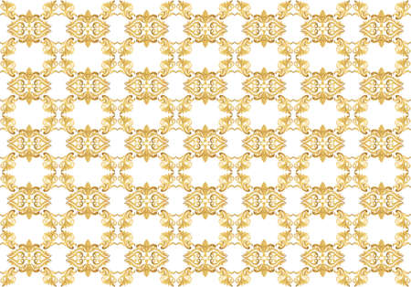 ceremonies: Gold ornament pattern in Classic damask style. Background for weddings, ceremonies, party, dress code, certificates. Vector