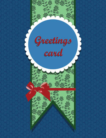ornamented: Ornamented round greetings card. Vector Illustration