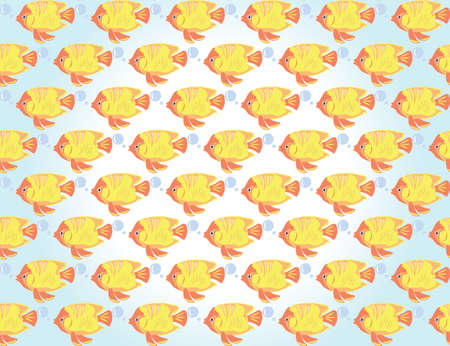 fish pattern: Vector Gold Fish pattern background