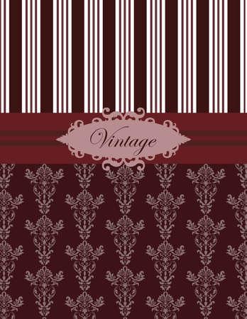 Vintage damasco classico ornamento in rosso. Vettore Vettoriali
