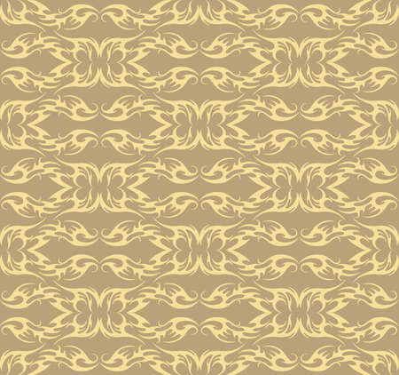 fabric textures: Vector Vintage Damask floral classic pattern ornament. Vector background for cards, web, fabric, textures, wallpapers, tile, mosaic. Lint and cream color