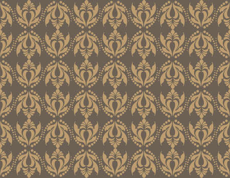 fabric textures: Vintage Abstract geometric floral classic pattern ornament. Vector background for cards, web, fabric, textures, wallpapers, tile, mosaic. Brown color