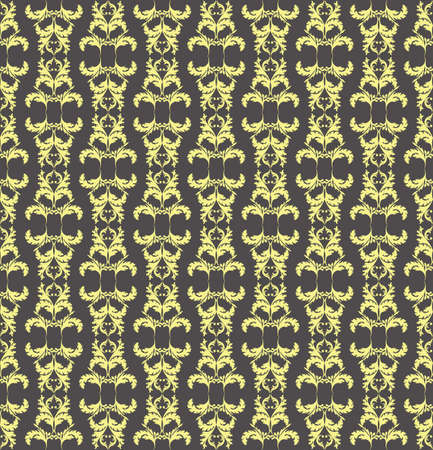 fabric textures: Vintage Abstract Floral classic pattern ornament. Vector background for cards, web, fabric, textures, wallpapers, tile, mosaic. Yellow color