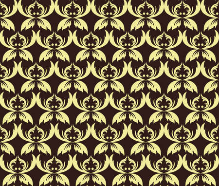 fabric textures: Vintage Abstract geometric floral classic pattern ornament. Vector background for cards, web, fabric, textures, wallpapers, tile, mosaic. yellow color