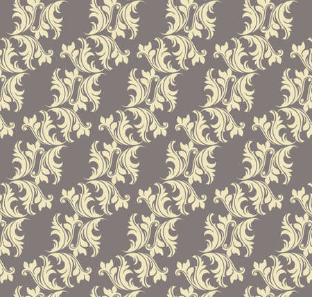 fabric textures: Abstract geometric floral classic pattern ornament. Vector background for cards, web, fabric, textures, wallpapers, tile, mosaic. Beige color