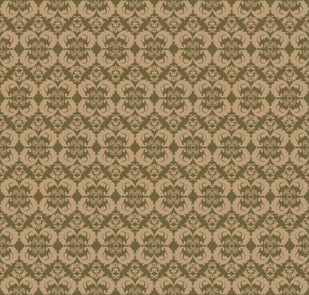 fabric textures: Vintage Abstract geometric floral classic pattern ornament. Vector background for cards, web, fabric, textures, wallpapers, tile, mosaic. Beige color Illustration