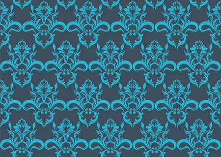fabric textures: Abstract geometric floral pattern ornament. Vector background for cards, web, fabric, textures, wallpapers, tile, mosaic. Blue color
