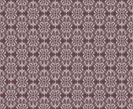 fabric textures: Vintage Abstract geometric floral classic pattern ornament. Vector background for cards, web, fabric, textures, wallpapers, tile, mosaic. red and beige color Illustration