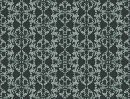 fabric textures: Vintage Abstract Floral classic pattern ornament. Vector background for cards, web, fabric, textures, wallpapers, tile, mosaic. Green color