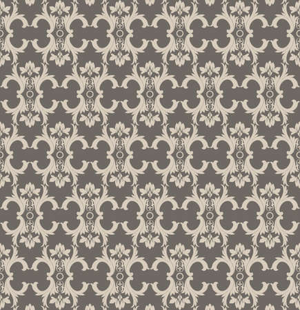 fabric textures: Vintage Abstract geometric floral classic pattern ornament. Vector background for cards, web, fabric, textures, wallpapers, tile, mosaic. Gray color