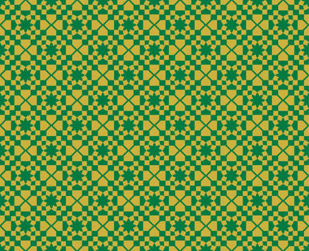 fabric textures: Abstract geometric pattern ornament. Vector background for cards, web, fabric, textures, wallpapers. Green color Illustration