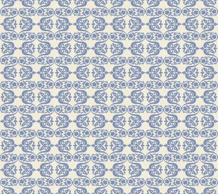 fabric textures: Vintage Abstract geometric floral classic pattern ornament. Vector background for cards, web, fabric, textures, wallpapers, tile, mosaic. blue color Illustration