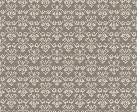 fabric textures: Vintage Abstract Floral classic pattern ornament. Vector background for cards, web, fabric, textures, wallpapers, tile, mosaic. Beige coffee color