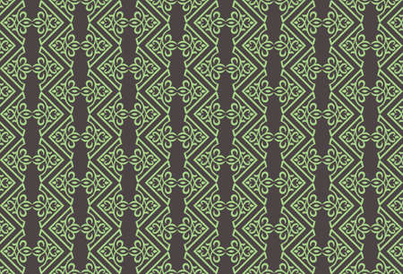 fabric textures: Vintage Abstract geometric floral classic pattern ornament. Vector background for cards, web, fabric, textures, wallpapers, tile, mosaic. Light green color
