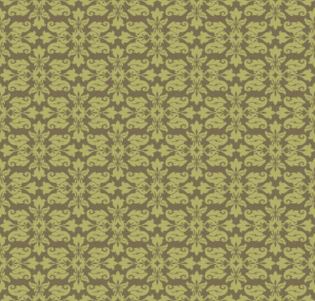 fabric textures: Vintage Abstract geometric floral classic pattern ornament. Vector background for cards, web, fabric, textures, wallpapers, tile, mosaic. light green color Illustration