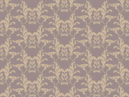 fabric textures: Vintage Floral classic pattern ornament. Vector background for cards, web, fabric, textures, wallpapers, tile, mosaic. Cream color Illustration