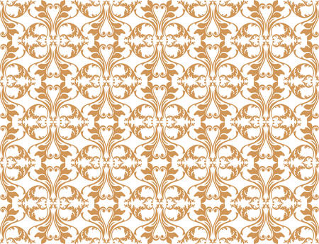 fabric textures: Vintage Abstract Floral classic pattern ornament. Vector background for cards, web, fabric, textures, wallpapers, tile, mosaic. gold color Illustration