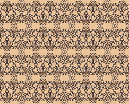 fabric textures: Vintage Abstract geometric floral classic pattern ornament. Vector background for cards, web, fabric, textures, wallpapers, tile, mosaic. peach color Illustration