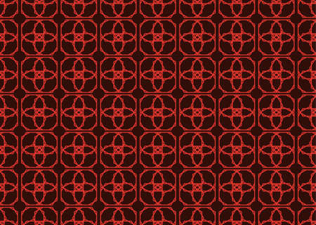 fabric textures: Vintage Abstract geometric classic pattern ornament. Vector background for cards, web, fabric, textures, wallpapers, tile, mosaic. Red color