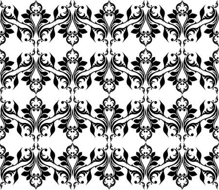 fabric textures: Vintage Abstract geometric floral classic pattern ornament. Vector background for cards, web, fabric, textures, wallpapers, tile, mosaic. Black color