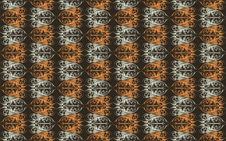 fabric textures: Vintage Abstract geometric floral classic pattern ornament. Vector background for cards, web, fabric, textures, wallpapers, tile, mosaic. colorful color Illustration