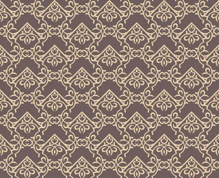 fabric textures: Vintage Abstract geometric floral classic pattern ornament. Vector background for cards, web, fabric, textures, wallpapers, tile, mosaic. Cream color