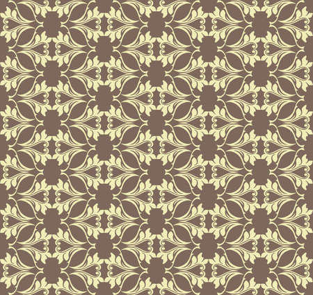 fabric textures: Vintage Abstract geometric floral classic pattern ornament. Vector background for cards, web, fabric, textures, wallpapers, tile, mosaic. Beige gold color Illustration