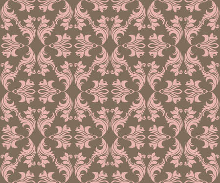 fabric textures: Abstract geometric floral classic pattern ornament. Vector background for cards, web, fabric, textures, wallpapers, tile, mosaic. Rose quartz color