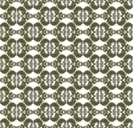 fabric textures: Vintage Abstract geometric floral classic pattern ornament. Vector background for cards, web, fabric, textures, wallpapers, tile, mosaic. green color