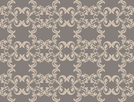 fabric textures: Vintage Damask floral classic pattern ornament. Vector background for cards, web, fabric, textures, wallpapers, tile, mosaic. Gray color