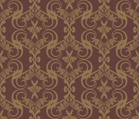 fabric textures: Vintage Damask floral classic pattern ornament. Vector background for cards, web, fabric, textures, wallpapers, tile, mosaic. Red color
