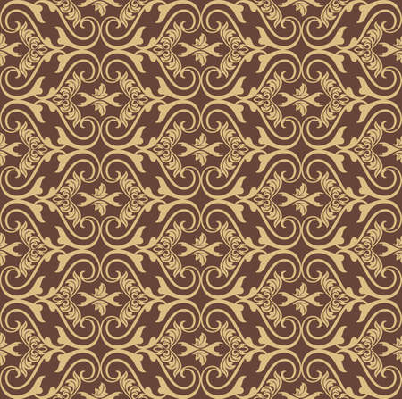 gold textures: Vector Vintage Damask floral classic pattern ornament. Vector background for cards, web, fabric, textures, wallpapers, tile, mosaic. Red and gold color