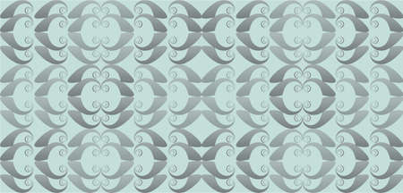opal: Vintage Abstract geometric floral classic pattern ornament. Vector background for cards, web, fabric, textures, wallpapers, tile, mosaic. opal blue color Illustration