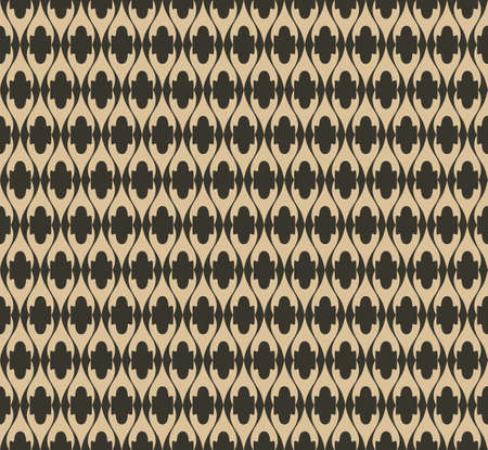 fabric textures: Vector Vintage Abstract geometric floral classic pattern ornament. Vector background for cards, web, fabric, textures, wallpapers, tile, mosaic. Black and beige color Illustration