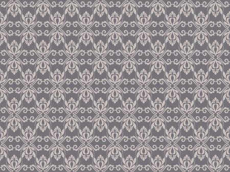 taupe: Vintage Abstract geometric floral classic pattern ornament. Vector background for cards, web, fabric, textures, wallpapers, tile, mosaic. Taupe color Illustration