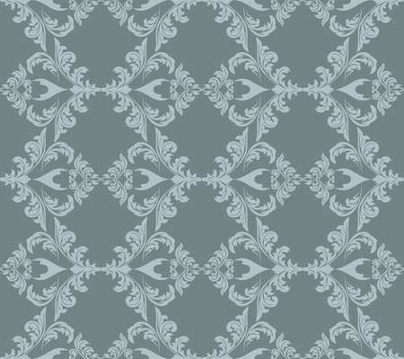 fabric textures: Vintage Abstract floral classic pattern ornament. Vector background for cards, web, fabric, textures, wallpapers, tile, mosaic. Blue serenity color