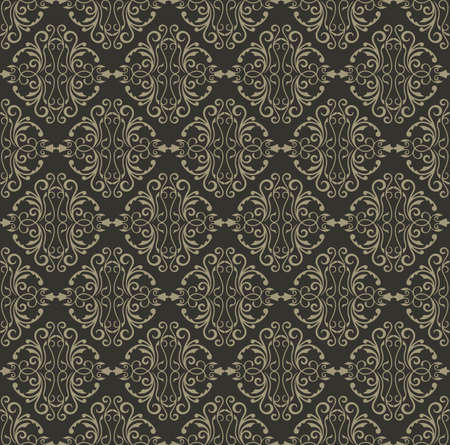 fabric textures: Vector Vintage Damask floral classic pattern ornament. Vector background for cards, web, fabric, textures, wallpapers, tile, mosaic. Gray color