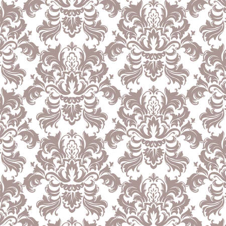 Vector Classic Luxury Victorian pattern. Luxury floral stylish texture of damask or baroque style. Taupe color ornament