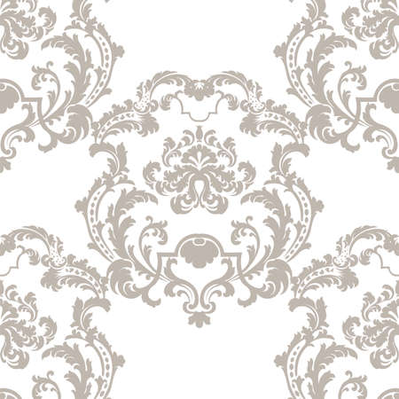 southwest asia: Vector Baroque Vintage floral damask pattern element background. Luxury Classic lily floral stylized Damask ornament, royal Victorian texture for wallpapers, textile, fabric. beige color ornament