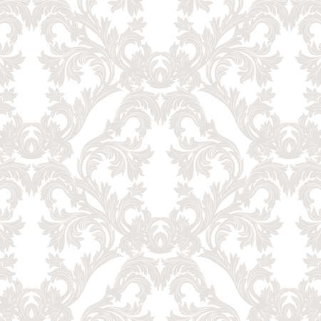taupe: Vintage Baroque floral Damask pattern Vector. Luxury classic ornament. Royal Victorian texture for wallpaper, textile, fabric. Taupe color