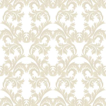 ヴィンテージ バロック ダマスク織花柄ベクトル。高級クラシック飾り。壁紙、テキスタイル、ファブリックのロイヤル ビクトリア朝のテクスチャ  イラスト・ベクター素材