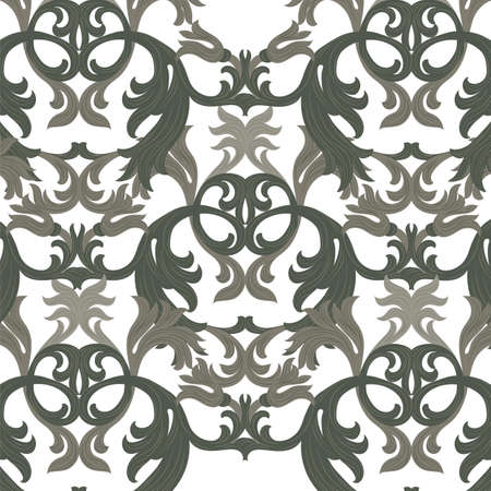 revive: Vector damask pattern ornament. Exquisite Baroque element template. Classical luxury fashioned damask ornament, Royal Victorian texture for wallpapers, textile, wrapping