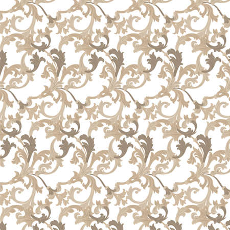 revive: Vector damask pattern ornament. Exquisite Baroque element template. Classical luxury fashioned damask ornament, Royal Victorian texture for wallpapers, textile, wrapping. Almond beige color