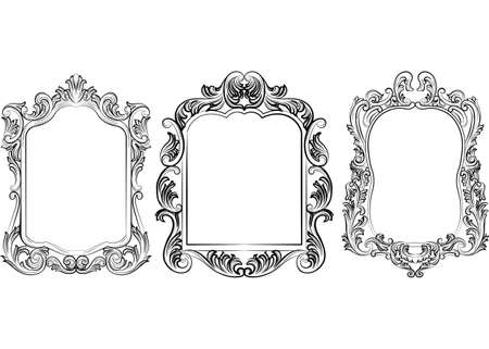 background textures: Set of Baroque Vintage Decoration Frames. Victorian Royal Rich Ornaments and Frames. Retro Style Collection for Cards, Invitations, Banner, Poster, Badges, Photos, Placards