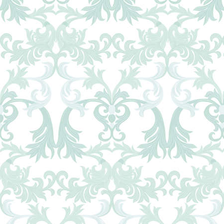 opal: Vector damask pattern ornament. Exquisite Baroque element template. Classical luxury fashioned damask ornament, Royal Victorian texture for wallpapers, textile, wrapping. Opal blue color