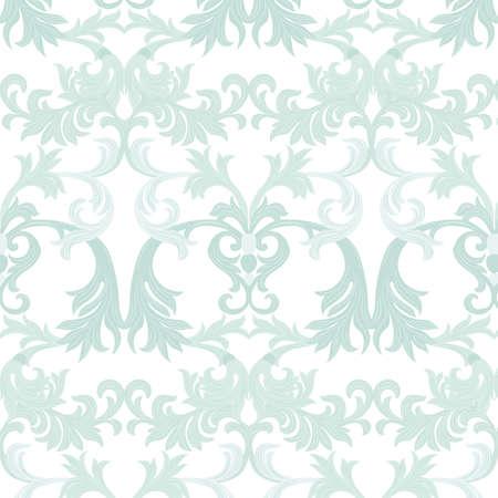 Vector Damask Pattern Ornament Exquisite Baroque Element Template