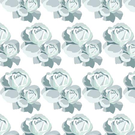 blue roses: Watercolor Blue Roses pattern. Vector rose flowers pattern Illustration